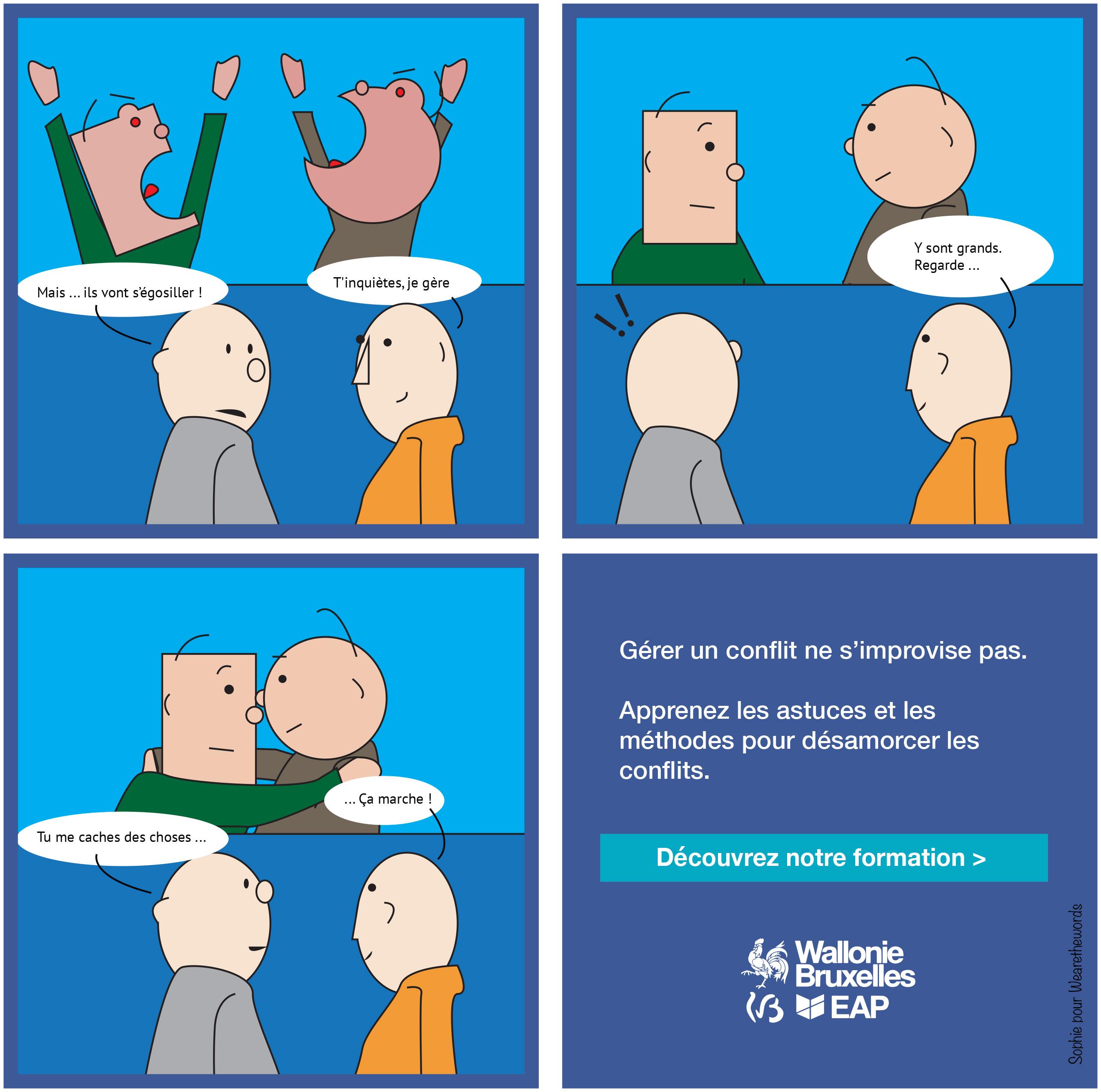 [Cartoon] Gérer un conflit, ça ne s'improvise pas à l'EAP